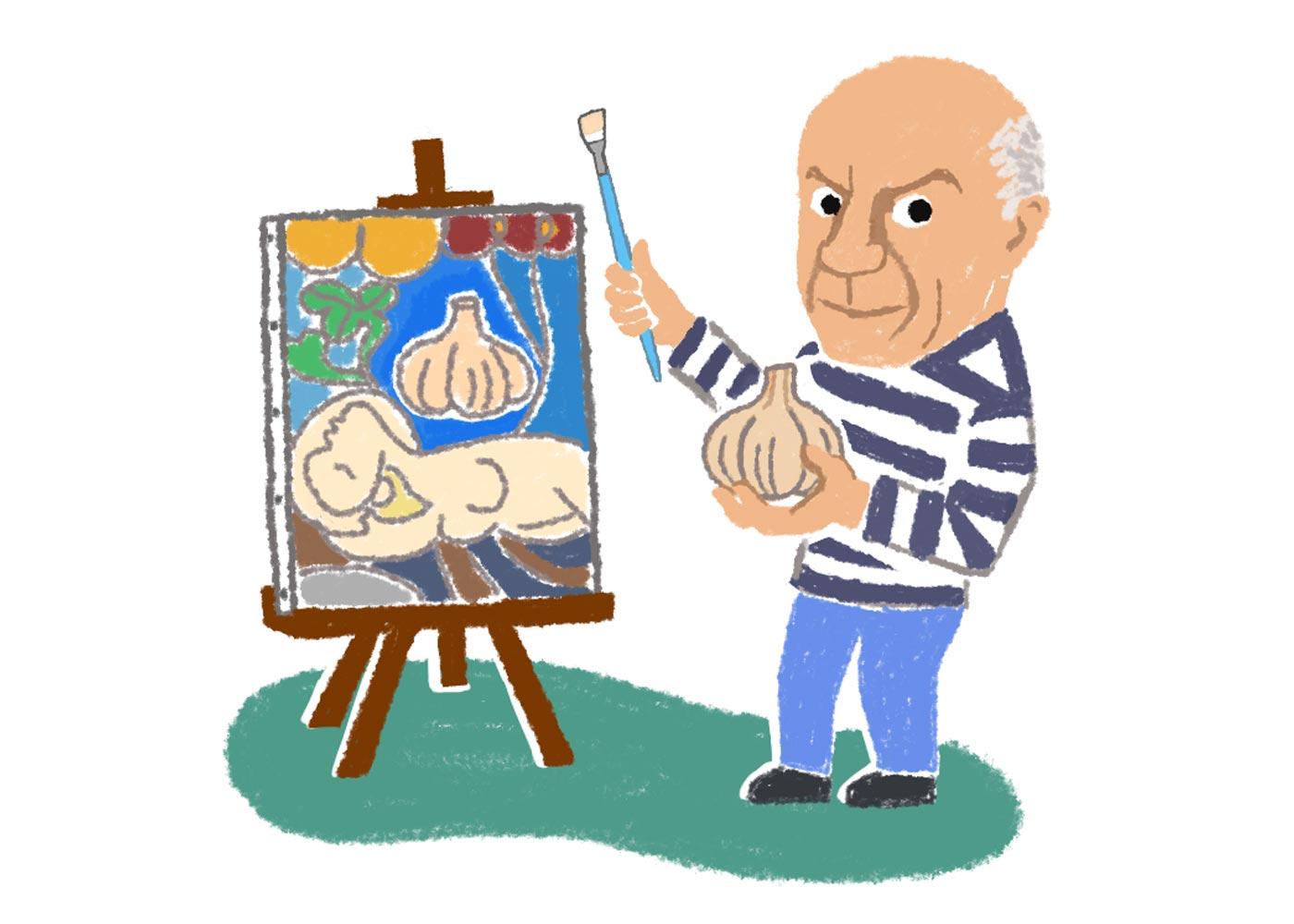 あの有名画家もにんにくが好物だった?