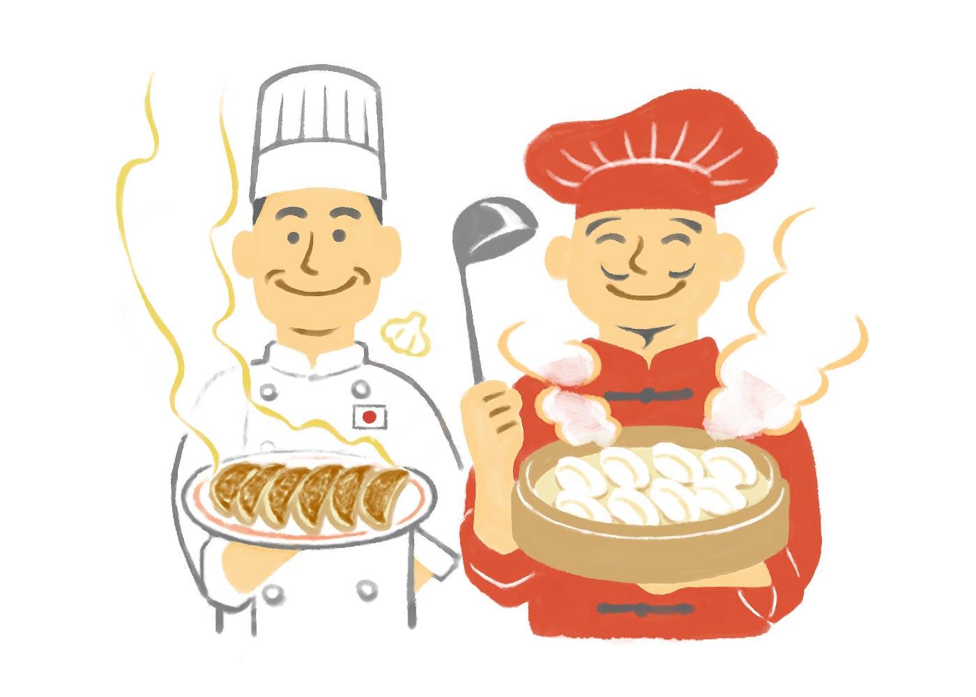 中国の餃子にはにんにくが入っていない?