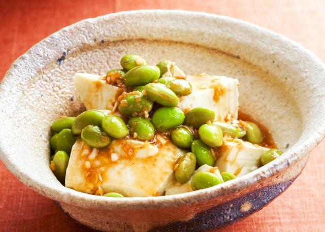 枝豆と豆腐の韓国風